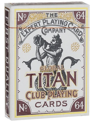 Карты Global Titans (белая) -The Expert Playing Card Co.