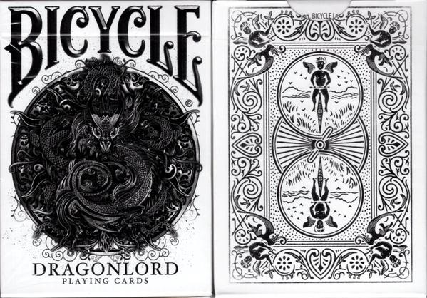 Карты Bicycle Dragonlord White Edition Playing Cards (включает 5 гафф карт)