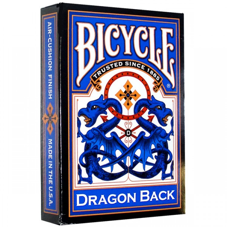 Карты Bicycle Dragon (синяя) - USPCC