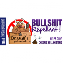 Dr Bull's Patented Bullshit Repellent -David Bonsall
