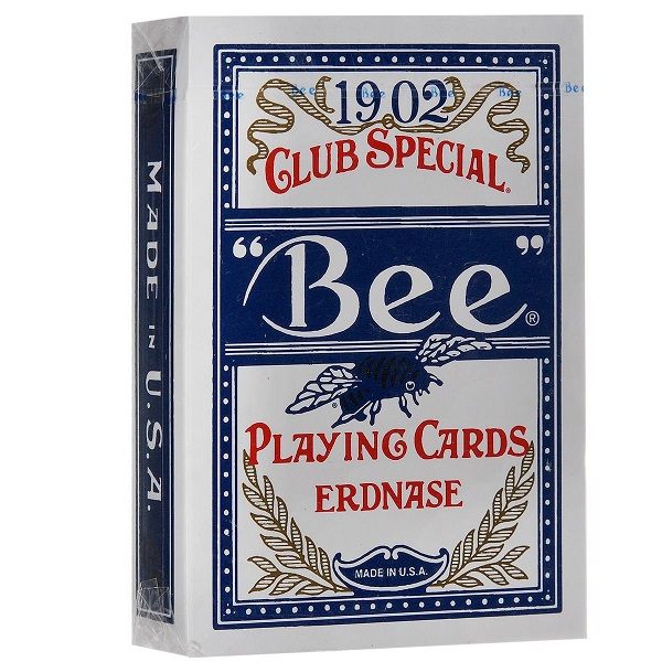 Игральные карты Erdnase 1902 Bee - Blue Smith No. 2 Back