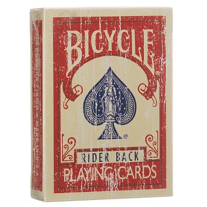 Карты Bicycle Faded Deck красные